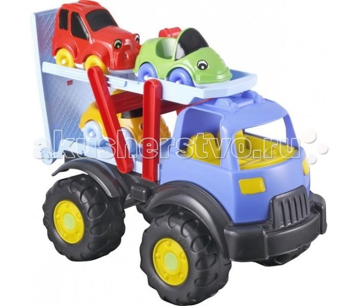 Pilsan Автовоз Tombik с 3 машинкамиАвтовоз Tombik с 3 машинкамиМашина Pilsan Автовоз Tombik имеет нестандартный дизайн. Этот грузовик может перевозить легковые машинки. Сверху к нему крепятся маленькие цветные автомобили. Машинка подходит для деток от 2 до 6 лет.   Сделаны игрушки из высококачественных материалов, которые полностью соответствуют современным требованиям безопасности. Автовоз имеет рельефные пластиковые колеса, которые легко едут даже по песку.   Машинка может использоваться, как в помещении, так и на улице. Стоит отметить, что благодаря такой машинке ребенок сможет легко выучить цвета, развить координацию движений и образное мышление.  В комплекте 3 машинки. Выполнены в ярких и красочных цветах. Удобные для маленьких ручек. Материал: прочный пластик. Размеры: 26х51х38 см.  Цвета в ассортименте.  Компания Pilsan начала свою историю в 1942 году. Сегодня – это компания-гигант индустрии крупногабаритных детских игрушек, которая экспортирует свою продукцию в 57 стран мира. Компанией выпускается 146 наименований продукции – аккумуляторные и педальные автомобили, велосипеды, развивающие игрушки и аксессуары для детей. Вся продукция Pilsan сертифицирована и отвечает международным стандартам качества.<br>