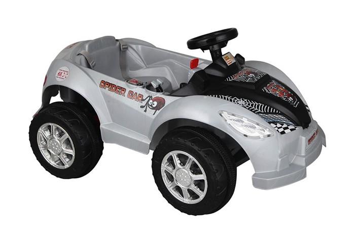 Электромобиль Pilsan Spider RemoteSpider RemoteУправляя этим автомобилем, Ваш ребенок с самого раннего детства приобретет навыки уверенного вождения. Ведь это фактически настоящий автомобиль, только маленький и безопасный.   Музыкальный сигнал (6 звуков) Аккумулятор 6V 12Ah Автоматическое торможение при снятии ноги с педали Колеса с бесшумным покрытием Рычаг переключения Вперед/Назад Удобное сидение со спинкой и ремнем безопасности Двигатель 1X6V с задним расположением  Для детей от 2-6 лет  Пульт радиоуправления для родителей Система амортизации Умная система ключей (с подсветкой) Наличие плавкого предохранителя Педаль газа/тормоза Передние фары  Открывающийся багажник Максимальная скорость 3.5 км/ч Максимальная грузоподъемность 25 кг  Цвета в ассортименте.   Размер машинки - 56х102х48 см.  Компания Pilsan начала свою историю в 1942 году. Сегодня – это компания-гигант индустрии крупногабаритных детских игрушек, которая экспортирует свою продукцию в 57 стран мира. Компанией выпускается 146 наименований продукции – аккумуляторные и педальные автомобили, велосипеды, развивающие игрушки и аксессуары для детей. Вся продукция Pilsan сертифицирована и отвечает международным стандартам качества.<br>