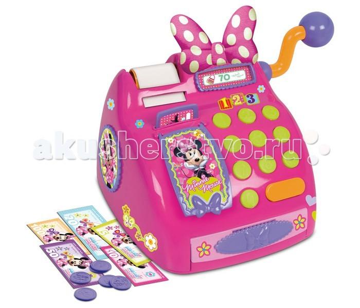 IMC toys Касса MinnieКасса MinnieIMC toys Касса Minnie - яркий розовый набор с кассой станет прекрасным подарком для каждой малышки.  В наборе Ваш малыш найдет все необходимое для игр в магазин. Касса стилизована под популярную тему мультфильмов Дисней. Здесь есть бумажные деньги, монетки, яркие кнопочки и забавная ручка, чтобы пробивать товар.  В наборе:  касса бумажные деньги монетки.  Ролевые игры развивают фантазию и воображение ребенка, учат его усидчивости, внимательности, стимулируют мелкую моторику и тактильные ощущения.<br>