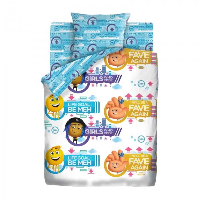 Постельные принадлежности , Постельное белье 1.5-спальное Непоседа Emoji Movie Эмоджи Стайл 1.5-спальное (3 предмета) арт: 403954 -  Постельное белье 1.5-спальное