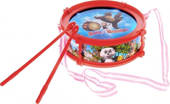 Музыкальные игрушки Играем вместе Барабан Маша и медведь со светом светлица набор для вышивания бисером мечеть бисер чехия 1068839