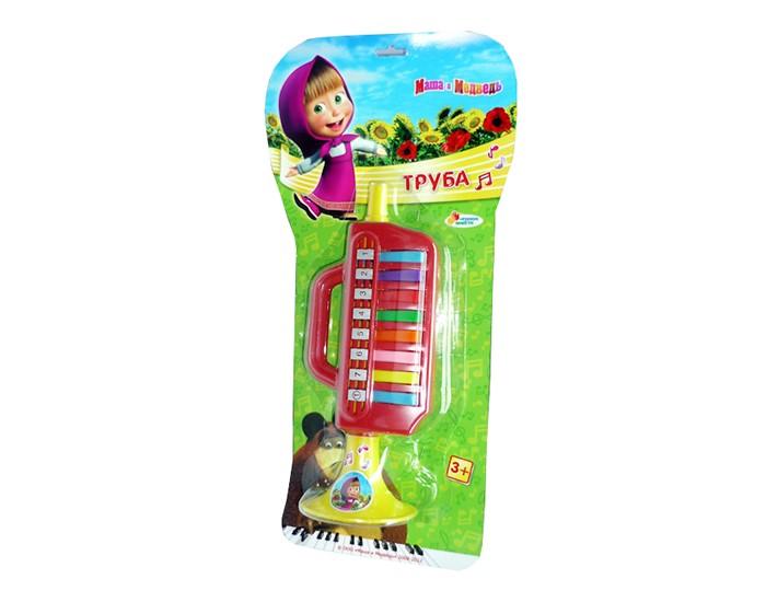 Музыкальные игрушки Играем вместе Труба Маша и медведь игрушки для ванной играем вместе набор для купания маша и медведь