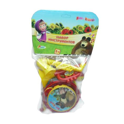 Музыкальные игрушки Играем вместе Набор муз. инструментов Маша и медведь игрушки для ванной играем вместе набор для купания маша и медведь