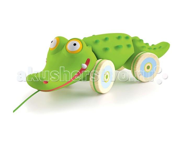 каталки игрушки plan toys каталка танцующий крокодил Каталки-игрушки Djeco Крокодил 06282