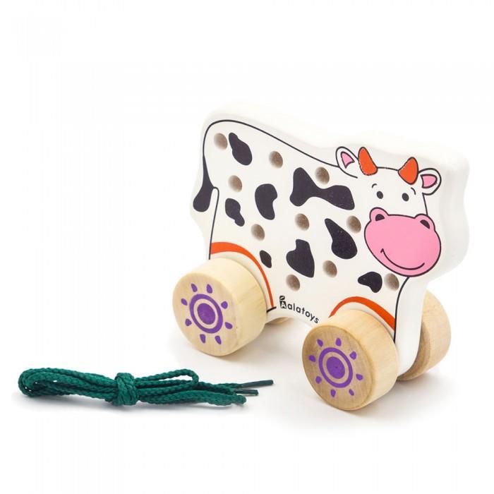 Картинка для Каталки-игрушки Alatoys Шнуровка Корова