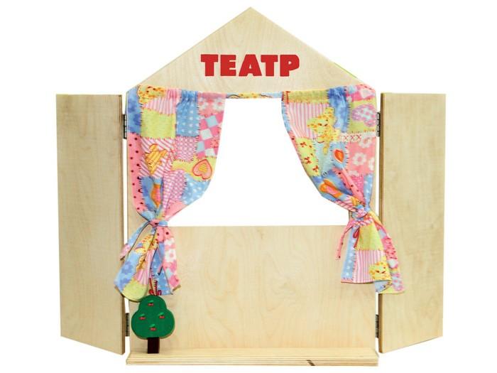 Картинка для Краснокамская игрушка Набор Ширма для кукольного театра