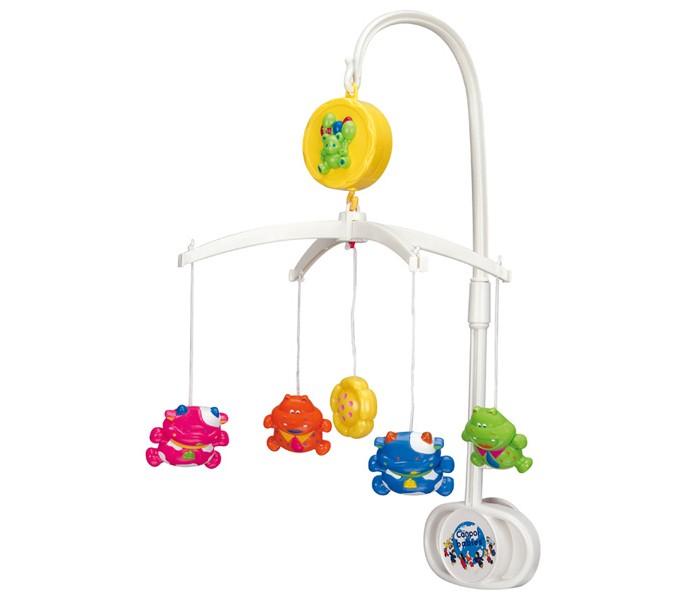Мобиль Canpol Коровки и бегемотики 2/516Коровки и бегемотики 2/516Музыкальная игрушка карусель Коровки и бегемотики Canpol 2/516.   Музыкальная карусель крепится на кроватку.  Красочные пластиковые игрушки-погремушки привлекают внимание ребенка, развивают его зрение и координацию движений.  Приятная мелодия музыкальной шкатулки успокаивает ребенка и помогает ему заснуть.   Карусель легко содержать в чистоте. Идеально подходит малышам, страдающих аллергией.<br>