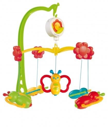 Мобиль Canpol Бабочки 75/003Бабочки 75/003Музыкальная игрушка карусель Бабочки Canpol 75/003.  Музыкальная карусель крепится на кроватку.  Красочные пластиковые игрушки-погремушки привлекают внимание ребенка, развивают его зрение и координацию движений.  Приятная мелодия музыкальной шкатулки успокаивает ребенка и помогает ему заснуть.   Карусель легко содержать в чистоте. Идеально подходит малышам, страдающих аллергией.<br>