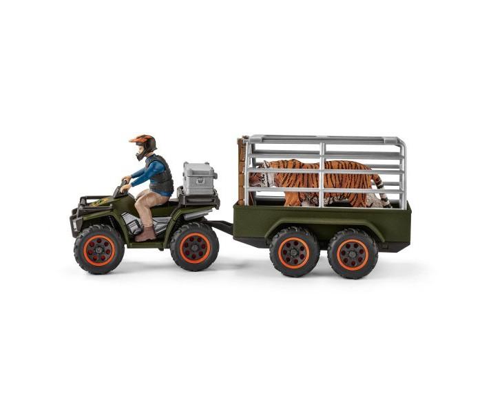 Игровые наборы Schleich Игровой набор Квадроцикл с прицепом для перевозки животных schleich корм для коров и телят