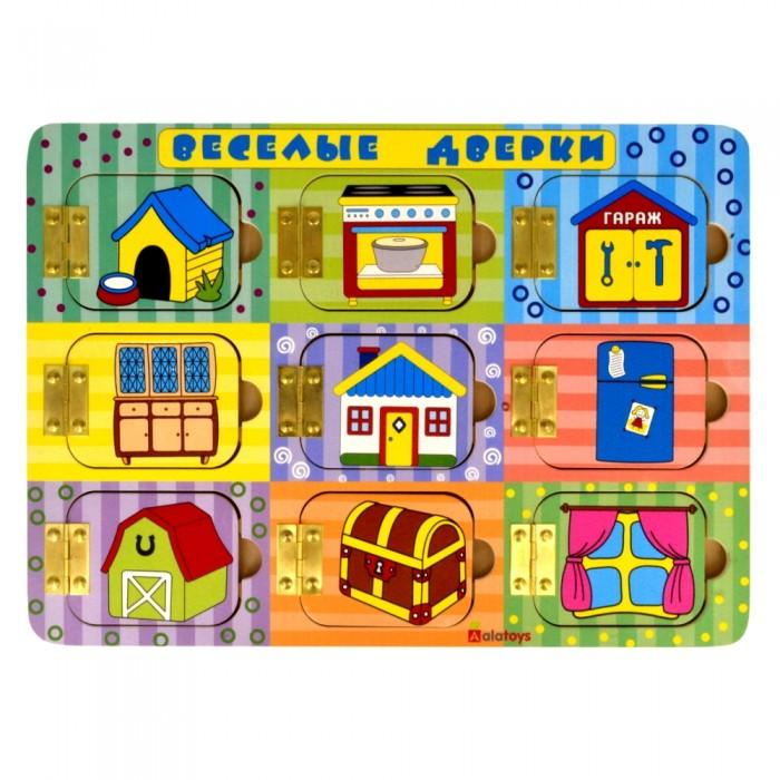 Деревянные игрушки Alatoys Бизиборд Веселые дверки