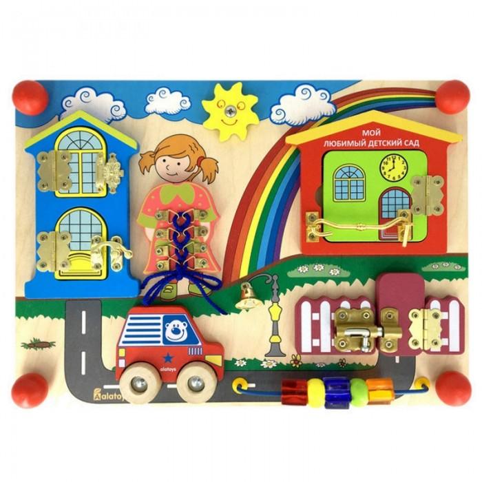 Деревянная игрушка Alatoys Бизиборд Солнечный день