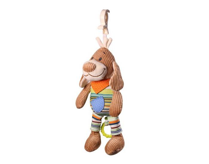 Подвесные игрушки BabyOno Музыкальная игрушка - Собачка (вельвет) подвесные игрушки babyono музыкальная игрушка собачка вельвет