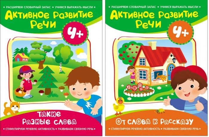 Раннее развитие Росмэн Комплект из 2 книг Активное развитие речи 4+ логическое творчество творческая логика логика развитие речи комплект из 4 книг