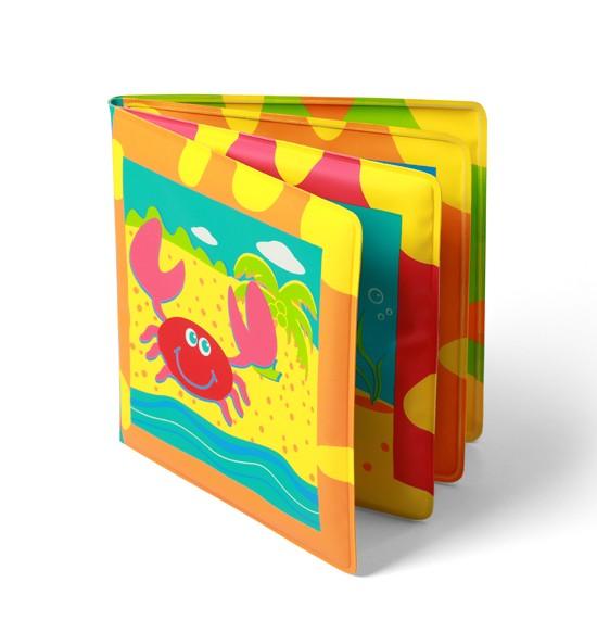 Игрушки для ванны BabyOno Развивающая книжка с пищалкой - океан babyono развивающая игрушка гимнастика малыша