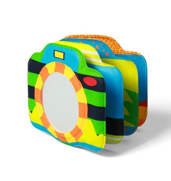 Игрушки для ванны BabyOno Развивающая книжка с пищалкой - камера babyono книжка игрушка камера