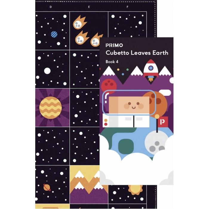 Primo Toys  Карта для путешествий КосмосИгровые наборы<br>#8203;Primo Toys Карта для путешествий Космос 13494 - Если ты уже побывал везде на планете Земля, то пора отправится в космос! Необъятный, прекрасный и таинственный мир, где ты найдёшь новые планеты, яркие звёзды, а, может быть, даже встретишь инопланетян! Cubetto с огромным удовольствием приглашает тебя посетить его космический корабль и научиться им управлять! Вперёд! В космическое путешествие!   Размер: 98*98 см.  Возраст: для детишек от 3-х лет.  К каждой карте прилагается книга путешествий с заданиями и полезной информацией на русском языке!