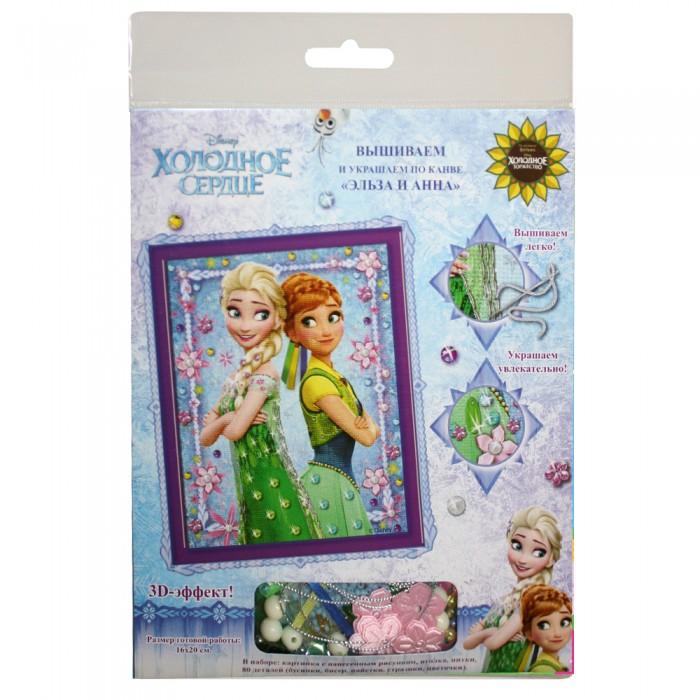 Наборы для творчества Disney Вышивание и украшение по канве Эльза и Анна Холодное сердце вышивание бисером чаривна мить