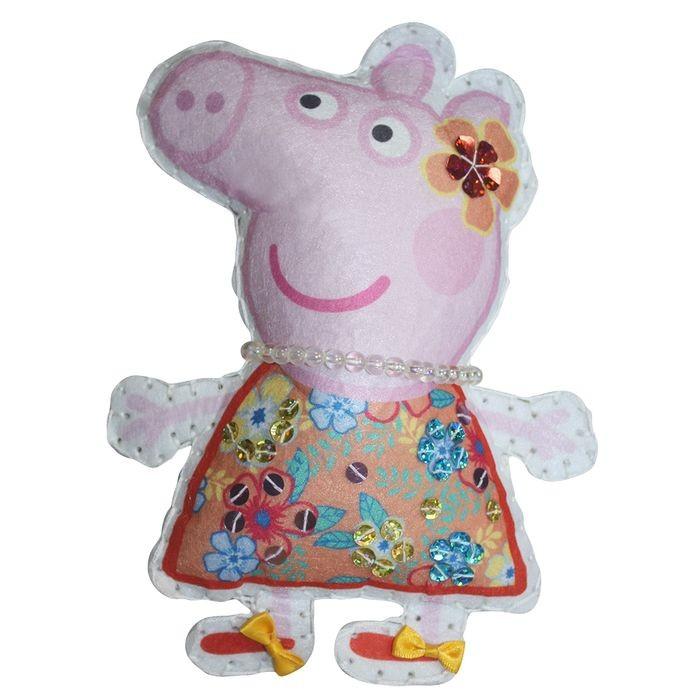 Наборы для творчества Свинка Пеппа (Peppa Pig) Шьем игрушку из фетра Пеппа на отдыхе большую мягкую игрушку собаку лежа в москве