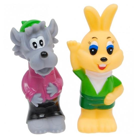 Игрушки для ванны Играем вместе Набор для ванной Волк и заяц игрушки для ванной играем вместе игрушка пвх играем вместе бычок