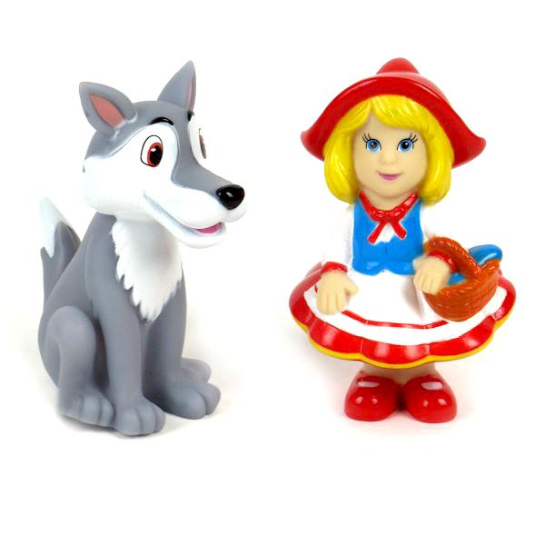 Игрушки для ванны Играем вместе Набор для ванной Красная шапочка и волк игрушки для ванной играем вместе игрушка пвх играем вместе бычок