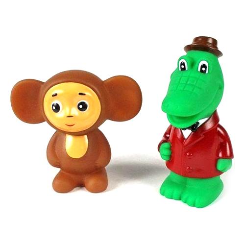 Игрушки для ванны Играем вместе Набор для ванной Чебурашка и крокодил Гена игрушки для ванной играем вместе игрушка пвх играем вместе бычок
