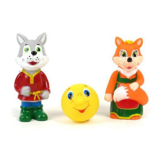 Игрушки для ванны Играем вместе Набор для ванной Лиса, волк и колобок игрушки для ванной играем вместе игрушка пвх играем вместе бычок