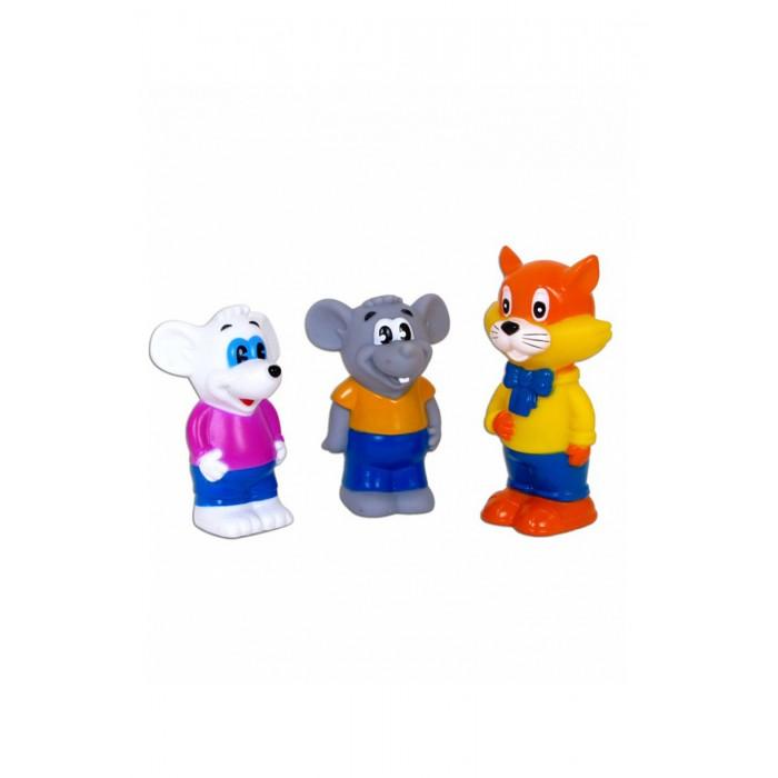 Игрушки для ванны Играем вместе Набор для ванной Кот Леопольд и 2 мышонка игрушки для ванной играем вместе игрушка пвх играем вместе бычок