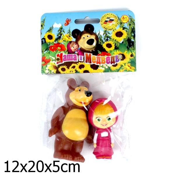 Игрушки для ванны Играем вместе Набор для ванной Маша и медведь игрушки для ванной играем вместе игрушка пвх играем вместе бычок