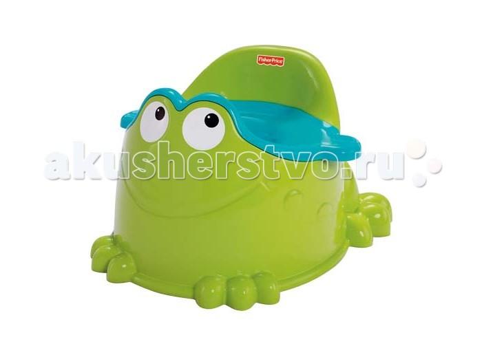 Горшок Fisher Price Mattel Зеленая лягушкаMattel Зеленая лягушкаГоршок Fisher Price Mattel Зеленая лягушка делает процесс привыкания к туалету веселым и комфортным.   Особенности: Ручки на горшке помогут малышу чувствовать себя уверенно Удобная форма горшка со спинкой и с защитой от брызг подойдет как для мальчиков, для девочек Комфортный, устойчивый с округлыми и гладкими поверхностями. Удобен для переноски и мытья<br>