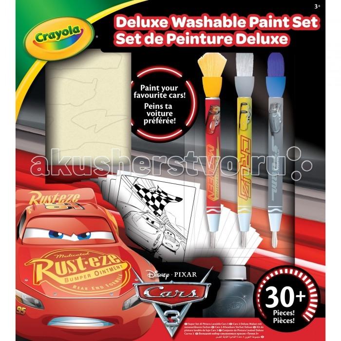 Развитие и школа , Принадлежности для рисования Crayola Набор со смываемыми красками Тачки 3 Делюкс арт: 408399 -  Принадлежности для рисования