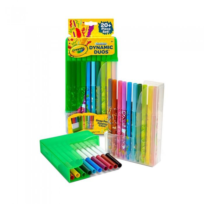 Развитие и школа , Фломастеры Crayola Парные в пластиковой подставке 20 шт арт: 408419 -  Фломастеры