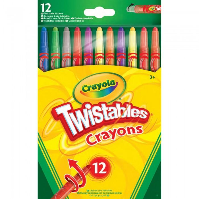 Карандаши, восковые мелки, пастель Crayola Выкручивающиеся восковые мелки 12 шт карандаши восковые мелки пастель kuso мелки восковые кирпичики 4 цвета