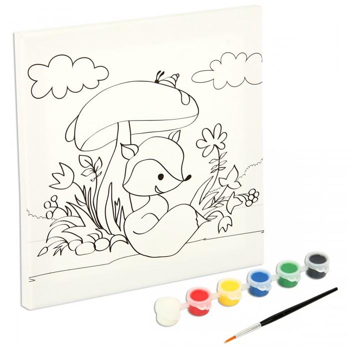 Раскраски Фабрика фантазий Роспись по холсту Цветочная поляна