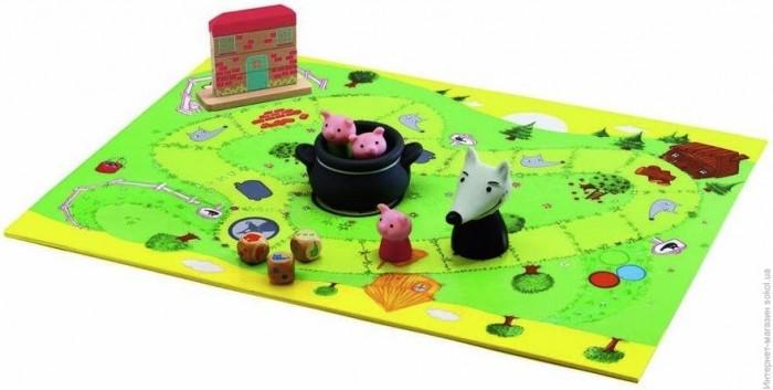 Настольные игры Djeco Настольная игра Три поросенка игры для малышей djeco детская настольная карточная игра мини семья