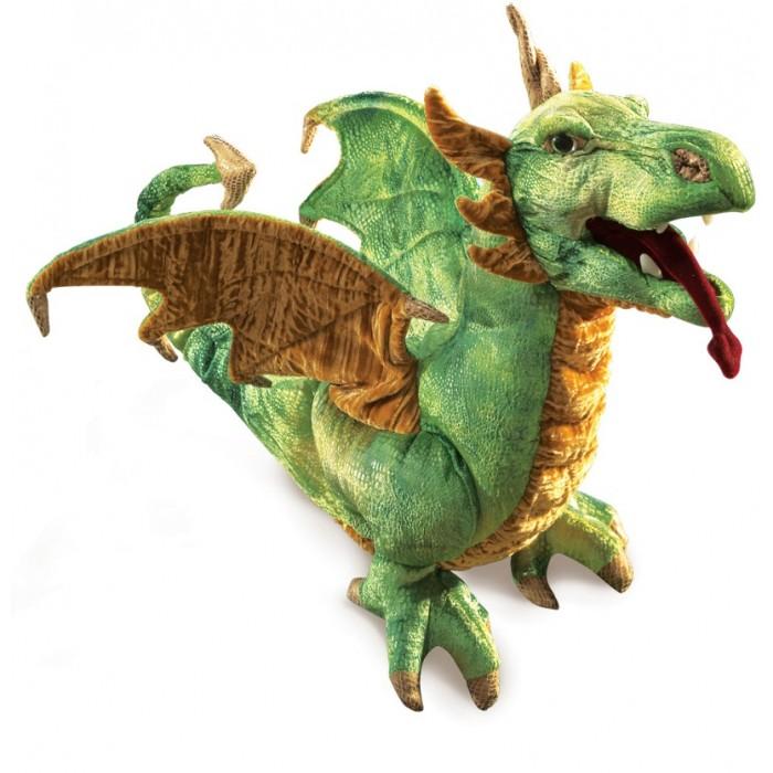 Мягкая игрушка Folkmanis Зеленый дракон 45 смЗеленый дракон 45 смМягкая игрушка Folkmanis Зеленый дракон 45 см - мягкая игрушка на руку из коллекции замечательных мягких игрушек - марионеток. Дизайн игрушек этой марки признан уникальным.  С этими игрушками можно разыгрывать детские спектакли.   Игрушкой можно управлять как перчаточной куклой. Подвижные части: рот, язык, крылья.  Игрушка создана из экологически чистых материалов. Возможна бережная ручная стирка.<br>