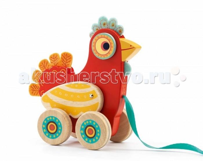 Каталки-игрушки Djeco Курочка Полка, Каталки-игрушки - артикул:409449