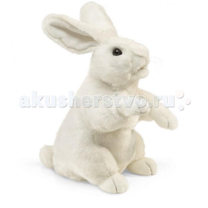 Мягкие игрушки Folkmanis Белый кролик 43 см мягкие игрушки folkmanis черный кот 51 см