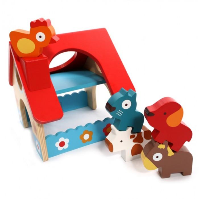 Деревянные игрушки Djeco ферма 5 животных игровые наборы tomy игровой набор приключения трактора джонни и лошади на ферме