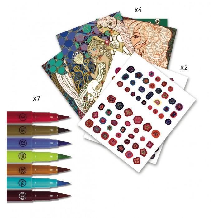 Творчество и хобби , Раскраски Djeco аппликация Новое искусство арт: 409639 -  Раскраски
