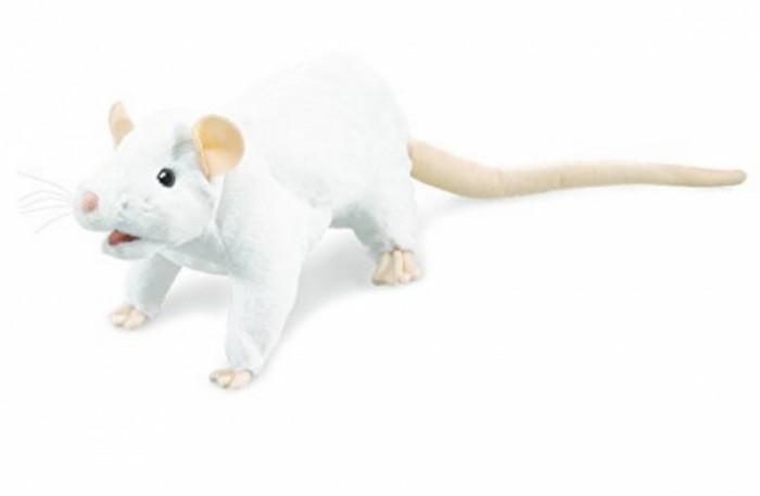 Мягкие игрушки Folkmanis Белая крыса 48 см мягкие игрушки folkmanis черный кот 51 см