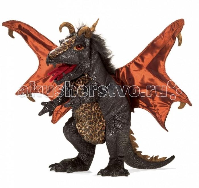 Мягкая игрушка Folkmanis Черный дракон 61 см