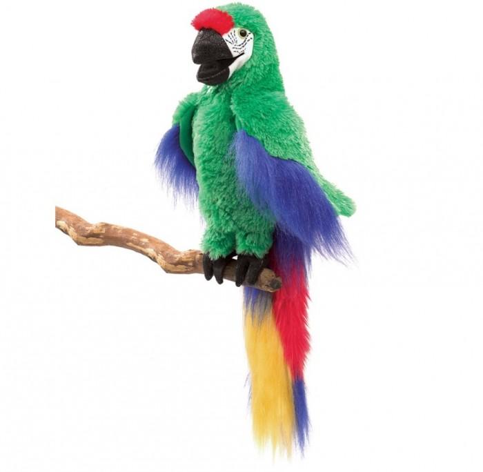 Мягкие игрушки Folkmanis Зеленый ара 56 см