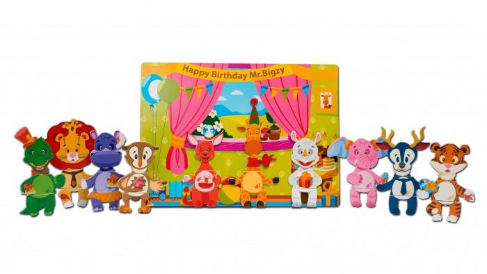 Деревянные игрушки Mr.Bigzy Магнитная игра День рождение жирафа