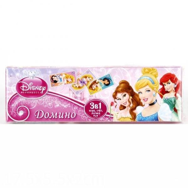 Настольные игры Умка Домино пластмассовое 3 в 1 Принцессы умка принцессы