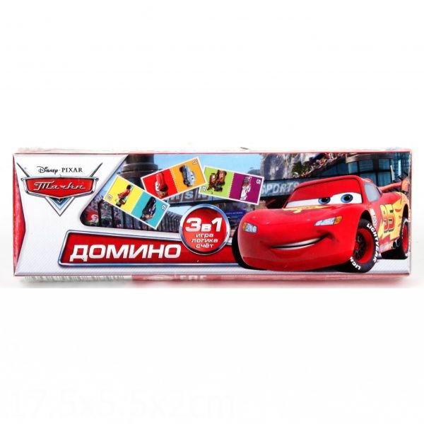 Настольные игры Умка Домино пластмассовое 3 в 1 Тачки викторина умка тачки 500 вопросов