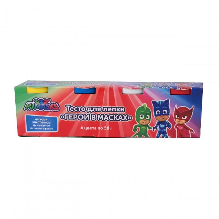 Всё для лепки Герои в масках (PJ Masks) Тесто для лепки 4 цвета по 50 г фигурки игрушки pj masks фигурка кэтбой тм герои в масках 8 см