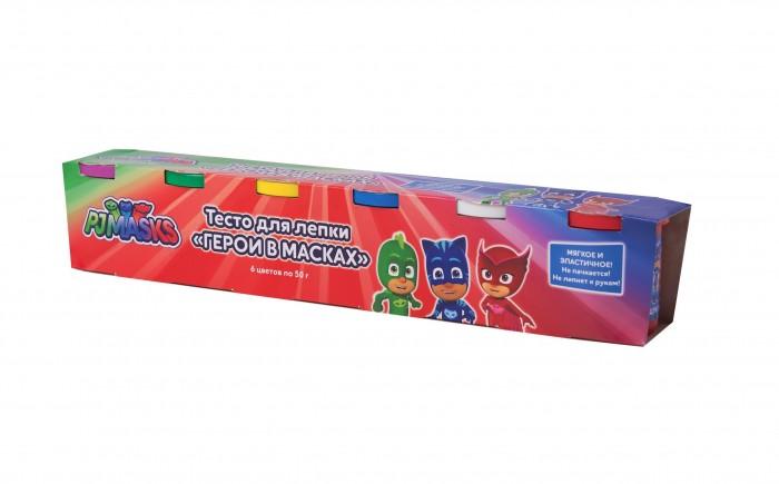 Всё для лепки Герои в масках (PJ Masks) Тесто для лепки 6 цветов по 50 г фигурки игрушки pj masks фигурка кэтбой тм герои в масках 8 см