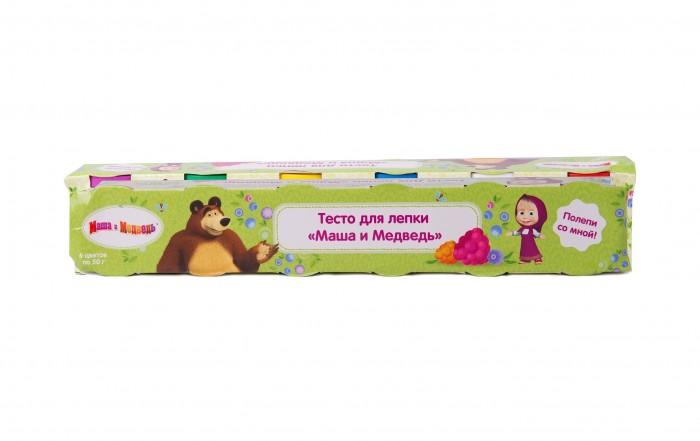 Всё для лепки Маша и Медведь Тесто для лепки 6 цветов х 50 г всё для лепки lori тесто для лепки пластишка 7 цветов по 30 г