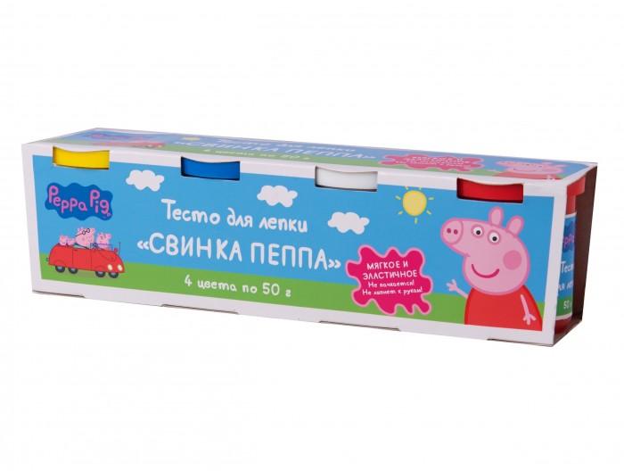 Всё для лепки Свинка Пеппа (Peppa Pig) Тесто для лепки 4 цвета по 50 г пазл origami peppa pig транспорт 4 в 1