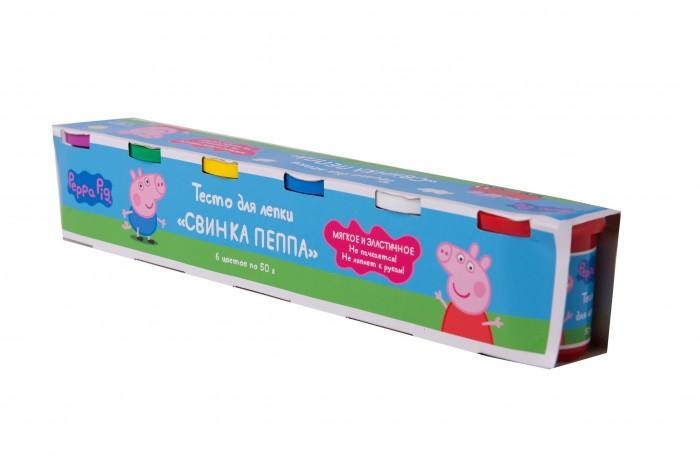 Всё для лепки Свинка Пеппа (Peppa Pig) Тесто для лепки 6 цветов по 50 г всё для лепки свинка пеппа peppa pig набор для творчества тесто для лепки 3d аппликация